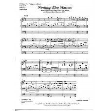 Nothing else matters/J Hetfield,L Ulrich, Metallica. Arr. Jens Claesson