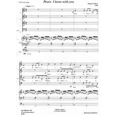 Peace I leave with You/Kör SATB+orgel/Magnus Kilvén