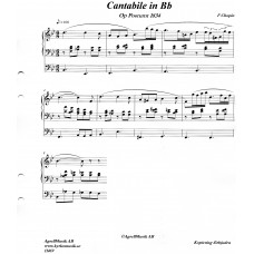 Cantabile in Bb  / F Chopin