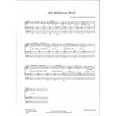 piano noter för kärlekens skull