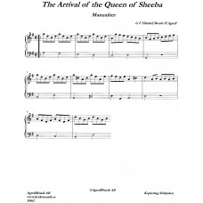 Arrival of the Queen of Sheeba, manualiter / G F Händel