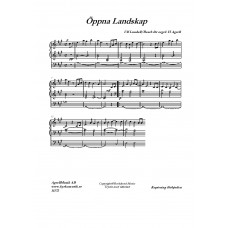 Öppna landskap A-dur /U Lundell