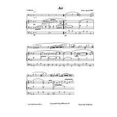 Air för cello och orgel /Hans Agrell