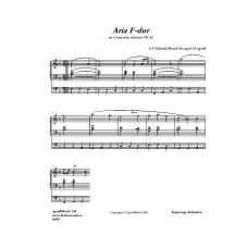 Aria F-dur /G F Händel