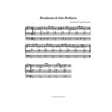 Brudmarsch från Bullaren /Trad/Bearb för orgel: H Agrell