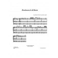 Brudmarsch till Karin /S Ahlstäde/Bearb för orgel:H Agrell