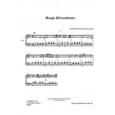 Ronja Rövardotter Piano Bb-dur /Björn Isfält