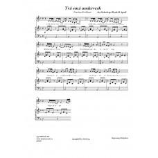 Två små underverk/Med enkelt pianokomp /Åsa Söderberg