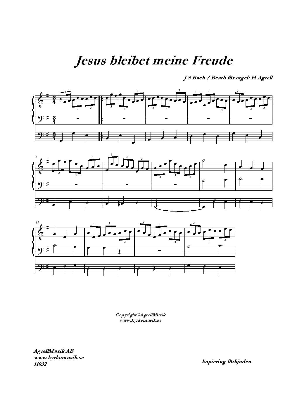 bach jesus bleibet meine freude orgel